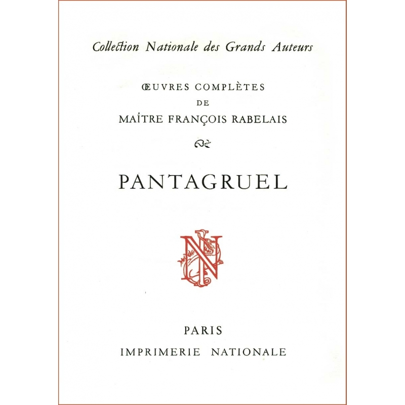Œuvres complètes de Maître François Rabelais (en 5 tomes)