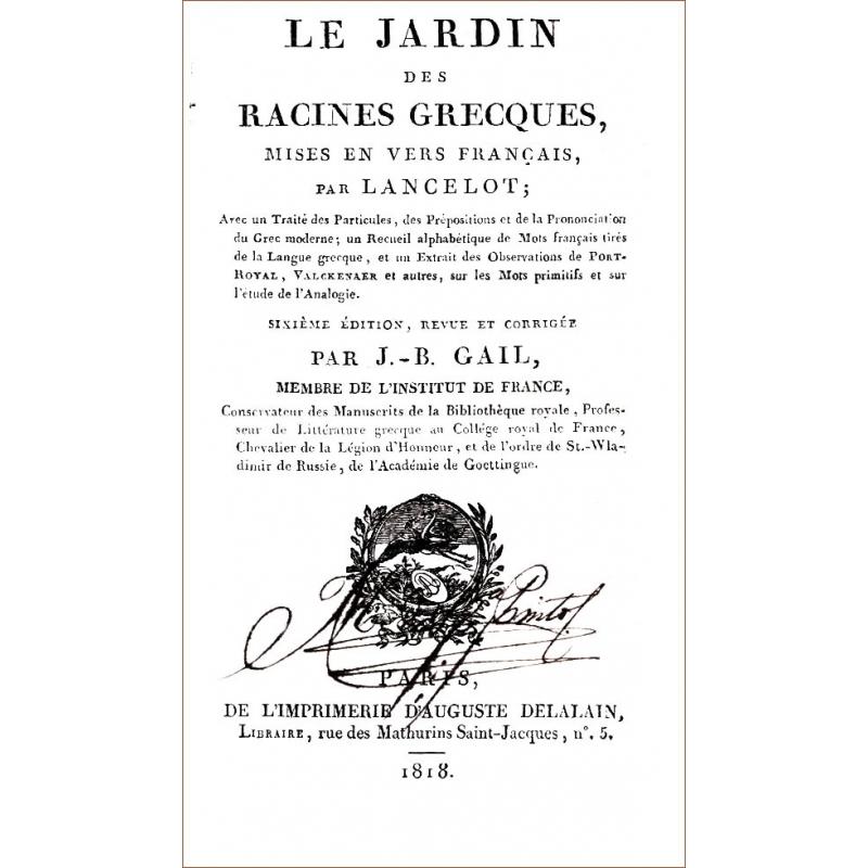 Le jardin des racines grecques, mises en vers français