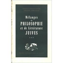 Mélanges de Philosophie et de littérature Juives - tomes III, IV, V, années 1958-1962