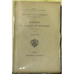 Bulletin philologique et historique (jusqu'à 1715) du Comité des travaux historiques et scientifiques - Année 1914