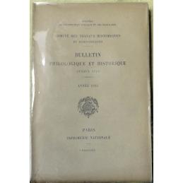 Bulletin philologique et historique (jusqu'à 1715) du Comité des travaux historiques et scientifiques - Année 1915