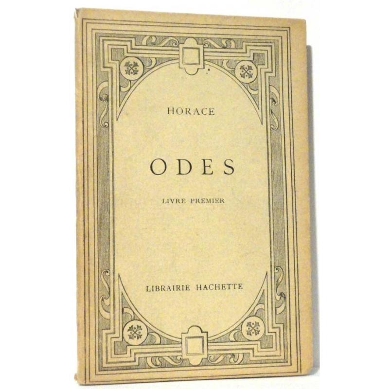 Odes, livres premier