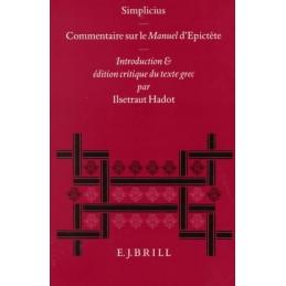 Simplicius, commentaire sur le manuel d'Epictète