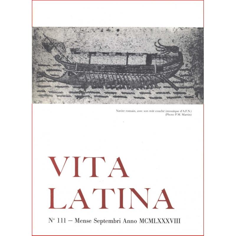Vita Latina - N° 111. Mense Septembri Anno MCMLXXXVIII