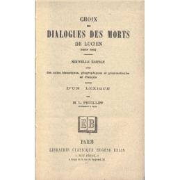 Choix des Dialogues des Morts de Lucien (texte grec). Nouvelle édition
