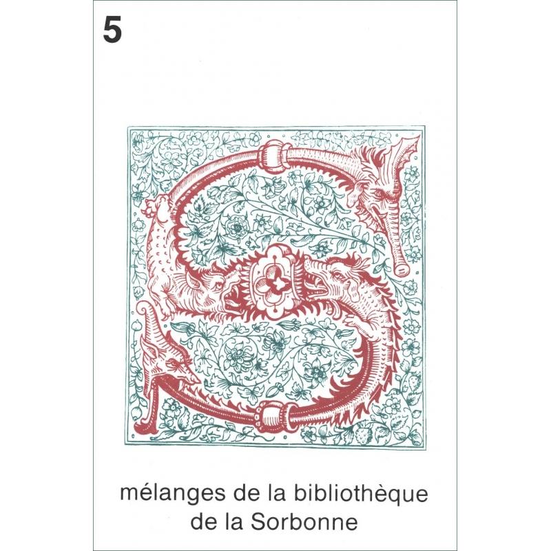 Mélanges de la bibliothèque de la Sorbonne 5