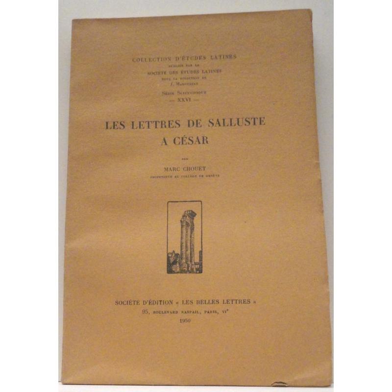 Les lettres de Salluste à César