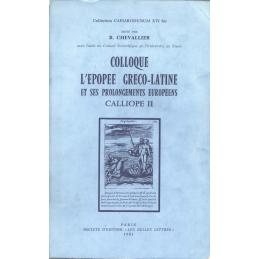 Colloque L'Épopée gréco-latine et ses prolongements européens. Calliope II