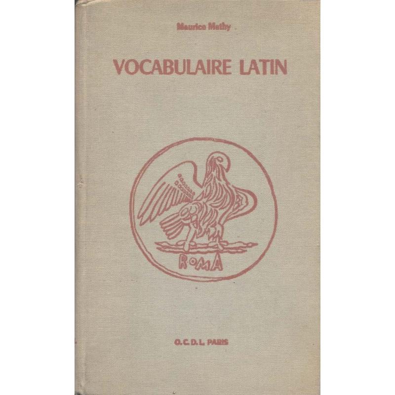 Carnet de vocabulaire latin (vocabulaire de base du latin)