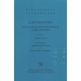 Diuinarum Institutionum Libri Septem, Fasc. 1 Libri I et II