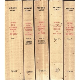 Histoire de littérature française au XVIIe siècle. (5 Tomes)