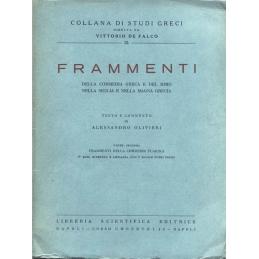 Frammenti della commedia greca e del mimo nella Sicilia et nella Magna Grecia. Parte seconda : Frammenti della commedia fliacica