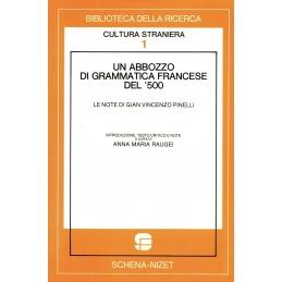 Un abbozzo di grammatica francese del '500. Le note di Gian Vincenzo Pinelli
