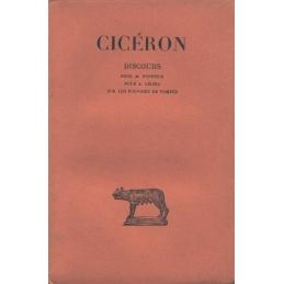 Discours, tome VII : Pour M. Fonteius - Pour A. Cécina - Sur les pouvoirs de Pompée