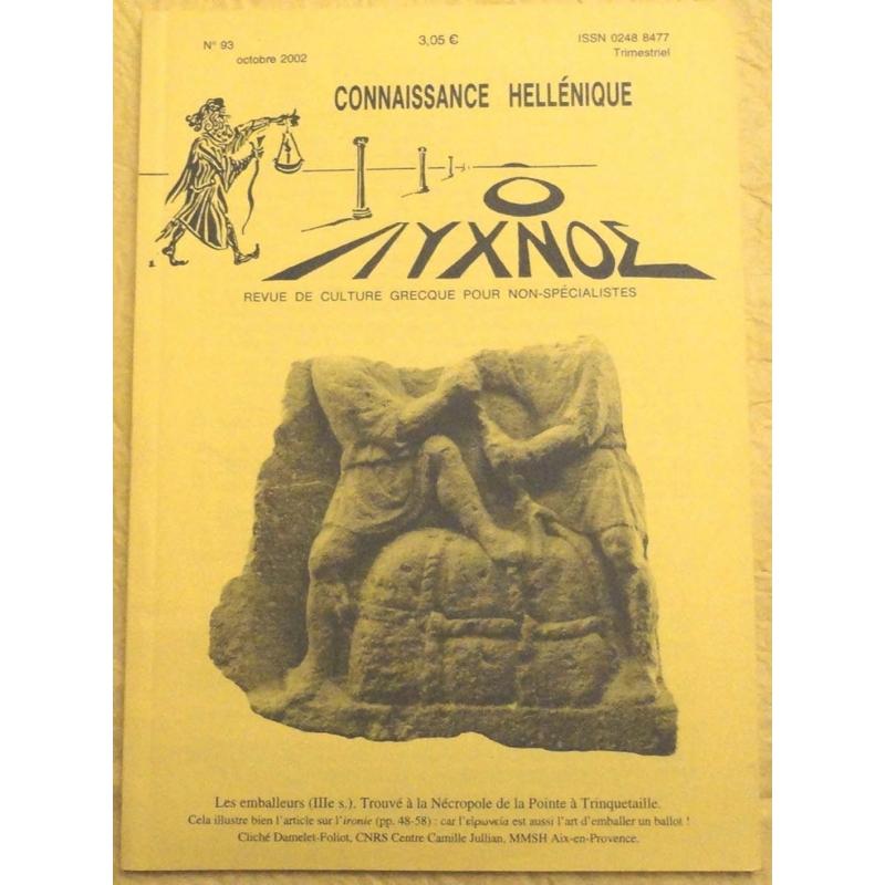 Connaissance hellénique n° 93 Octobre 2002
