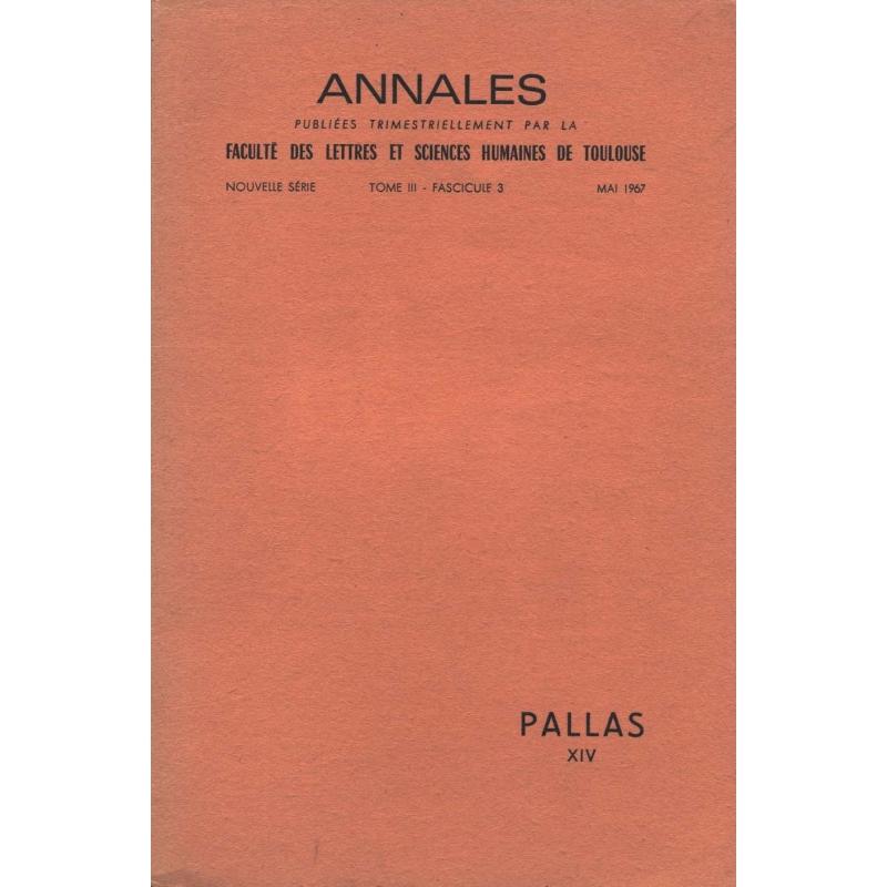 Pallas XIV. Nouvelle série. Tome III. Fascicule 3