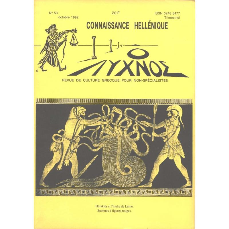 Connaissance hellénique n° 53 Octobre 1992