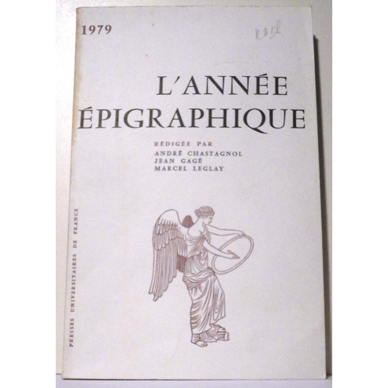 L'année épigraphique - 1979