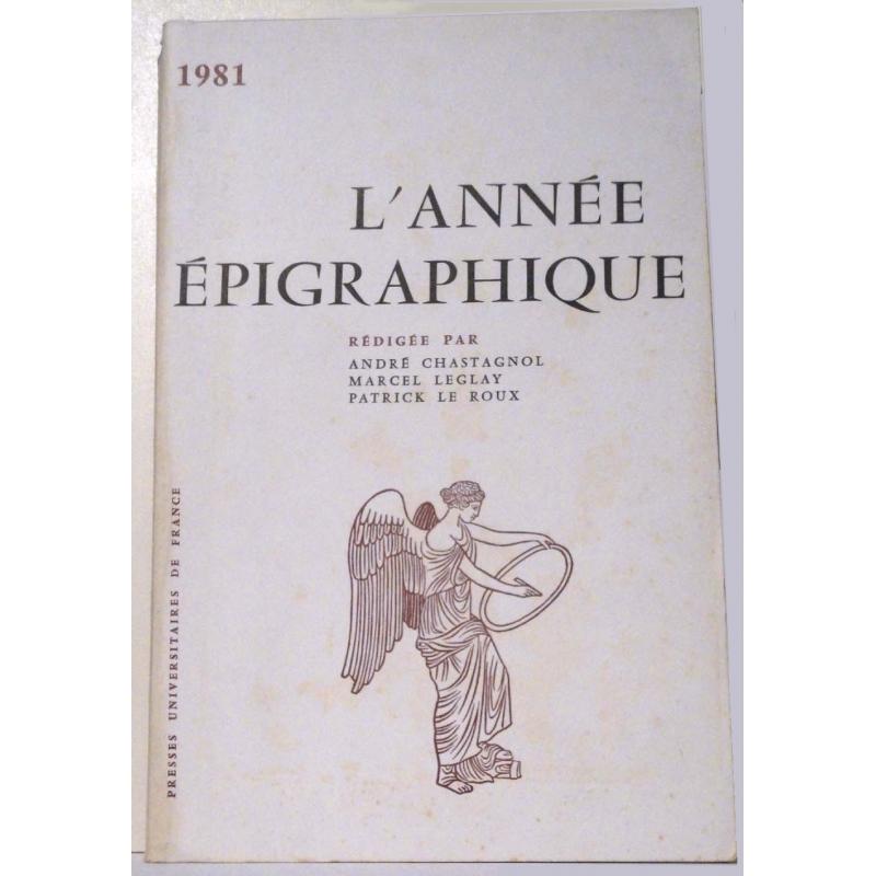 L'année épigraphique - 1981