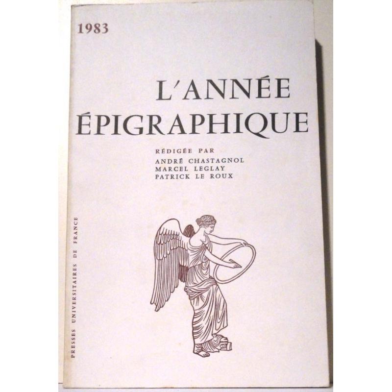 L'année épigraphique - 1983