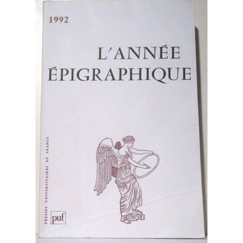 L'année épigraphique - 1992