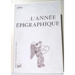 L'année épigraphique - 1993