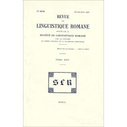 Revue de linguistique romane. Nos 93-94. Janvier-Juin 1960. Tome XXIV