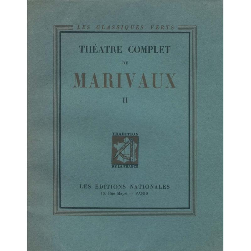 Théâtre complet de Marivaux, tomes I et II