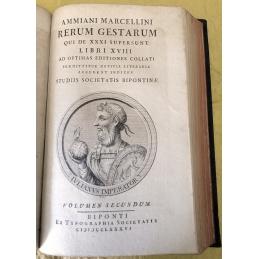 Ammiani Marcellini Rerum Gestarum qui de XXXI supersunt libri XVIII. Volumes I et II