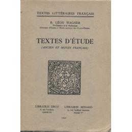 Textes d'étude (ancien et moyen français)