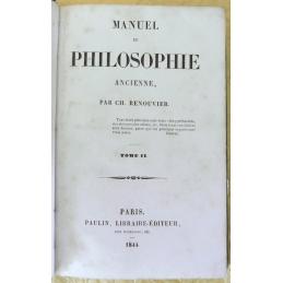 Manuel de philosophie ancienne, tomes I et II