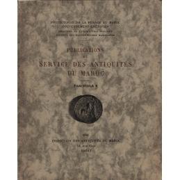 Publications du Service des antiquités du Maroc. Fascicule n°6