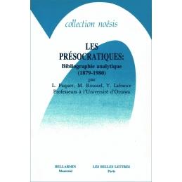 Les Présocratiques : Bibliographie analytique (1879-1980)