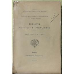 Bulletin philologique et historique (jusqu'à 1715) du Comité des travaux historiques et scientifiques - Année 1902