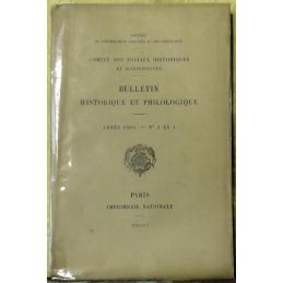 Bulletin philologique et historique (jusqu'à 1715) du Comité des travaux historiques et scientifiques - Année 1904