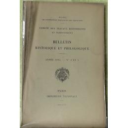 Bulletin philologique et historique (jusqu'à 1715) du Comité des travaux historiques et scientifiques - Année 1905