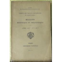 Bulletin philologique et historique (jusqu'à 1715) du Comité des travaux historiques et scientifiques - Année 1906