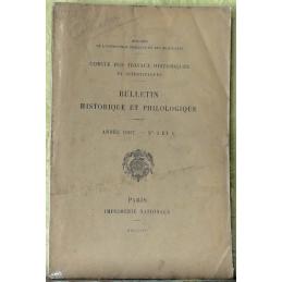 Bulletin philologique et historique (jusqu'à 1715) du Comité des travaux historiques et scientifiques - Année 1907