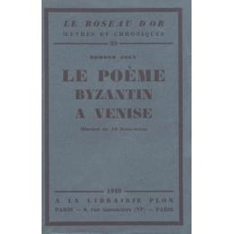 Le poème byzantin à Venise
