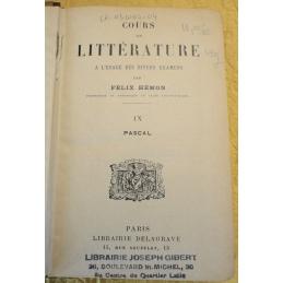 Cours de littérature à l'usage des divers examens