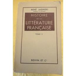 Histoire de la littérature française, tomes I et II