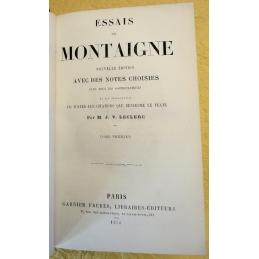 Essais de Montaigne, tomes I et II