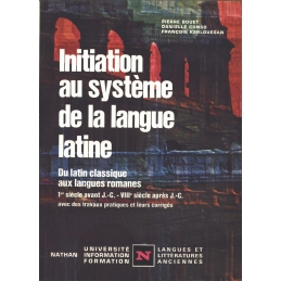 Initiation au système de la langue latine...