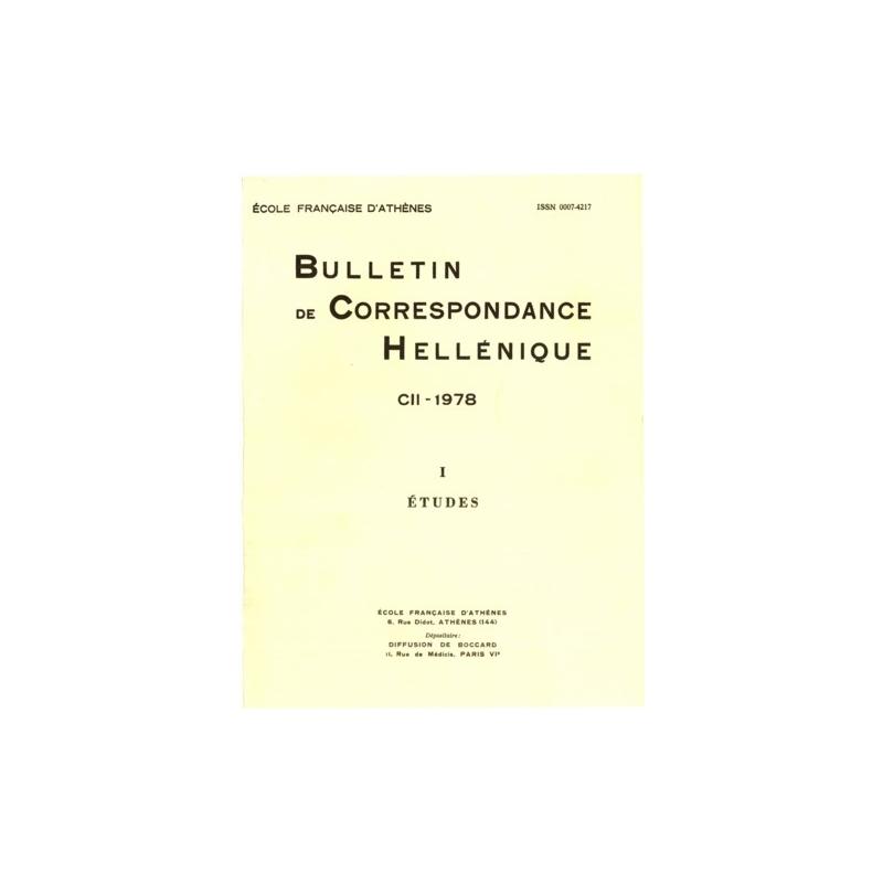 Bulletin de correspondance hellénique - Extraits : Louis Robert - Documents d'Asie Mineure