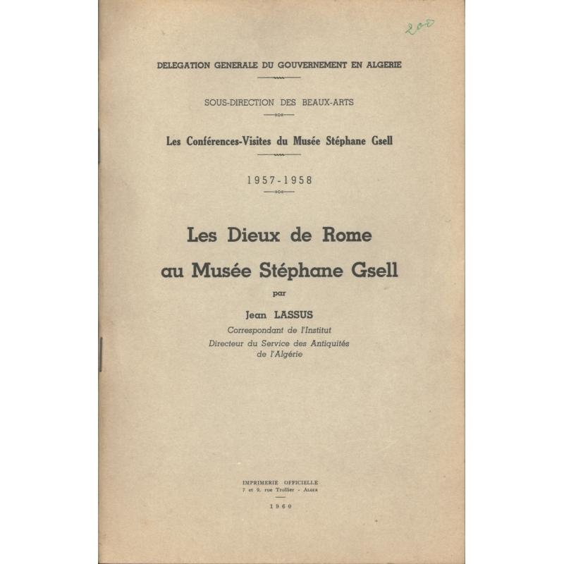Les conférences-visites du Musée Stéphane Gsell. 1957-1958  Les Dieux de Rome au musée Stéphane Gsell