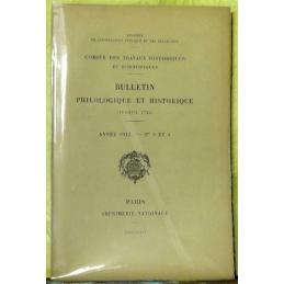 Bulletin philologique et historique (jusqu'à 1715) du Comité des travaux historiques et scientifiques - Année 1913