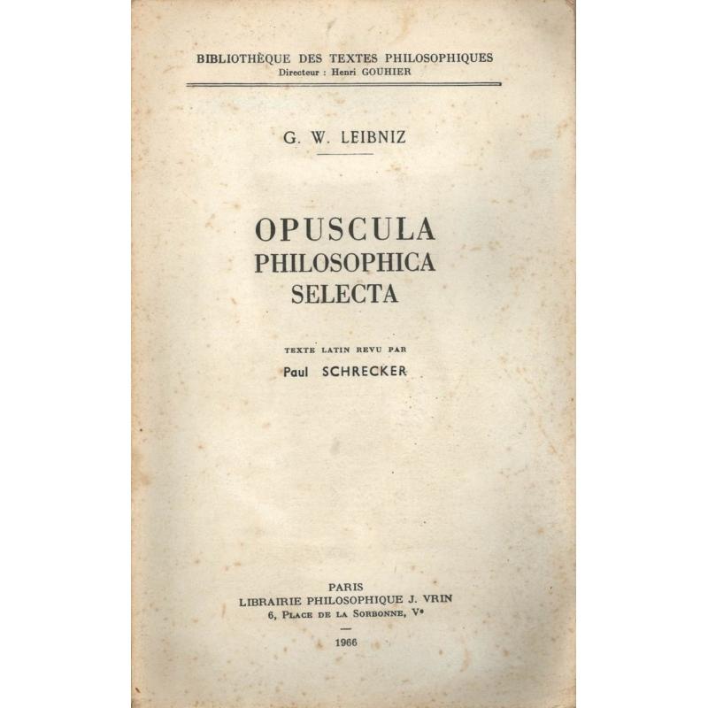 Opuluscules philosophiques choisis, 2 vol.