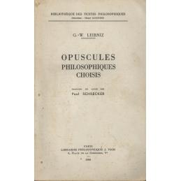 Opuluscules philosophiques choisis, 2 vol. (texte et traduction)