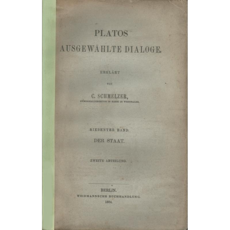 Platos Ausgewählte Dialogue