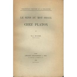 Le sens du mot théios chez Platon